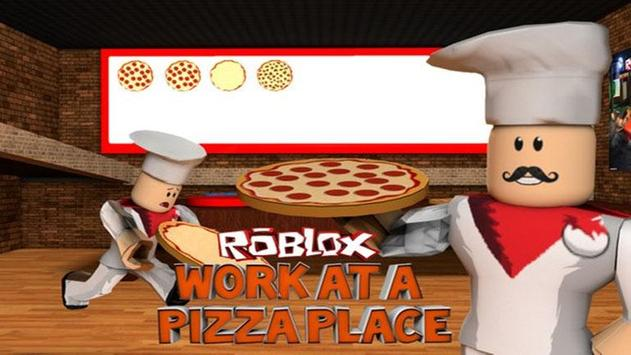 Guide for roblox work at a pizza place poster