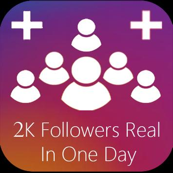 +2K Instagram Followers On Day #Real_Increase! poster