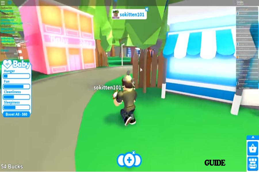 Tips Of Roblox Adopt Me For Android Apk Download - roblox hunger games animation