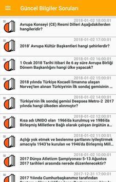 2018 Kpss Güncel Bilgiler Soruları apk screenshot