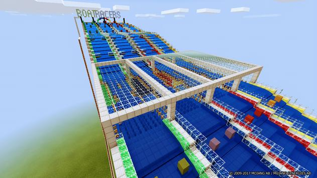 Aquatic Races map for Minecraft poster