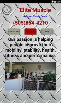 Elite Muscle Fitness Center apk screenshot
