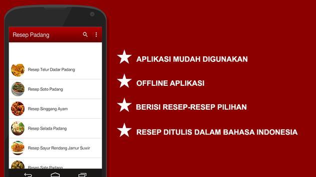 Resep Padang apk screenshot