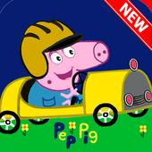 pepa pig car icon
