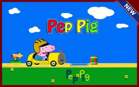 pepa pig car poster
