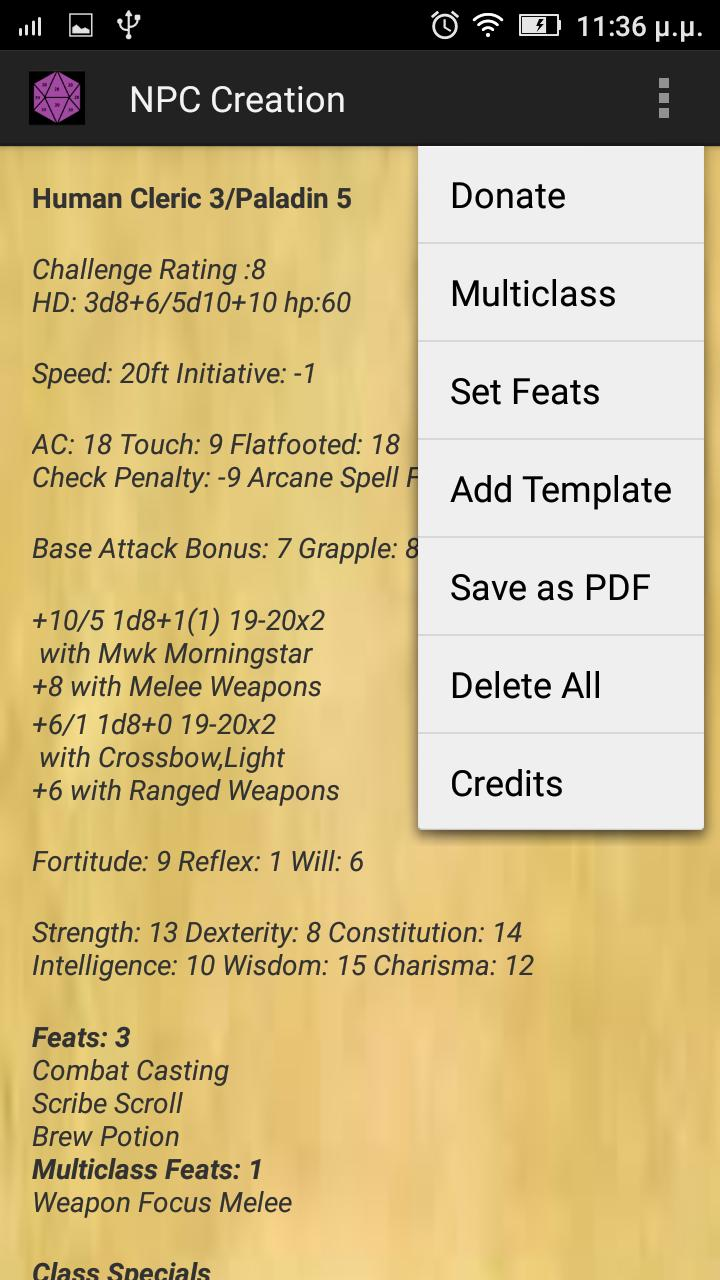 DnD 3 5 NPC Generator for Android - APK Download