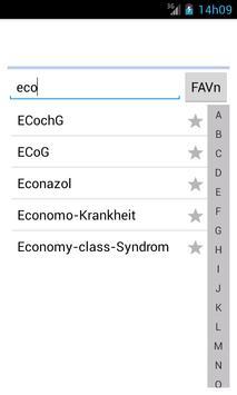 Medizinische Wörterbuch screenshot 2