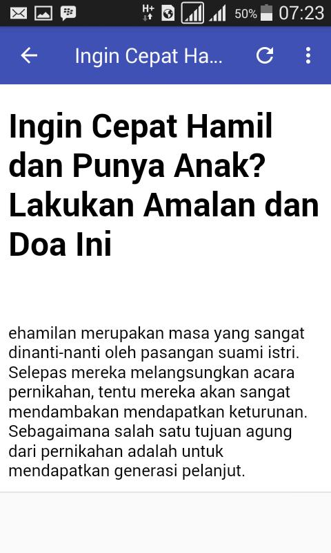 Doa Cepat Hamil For Android Apk Download