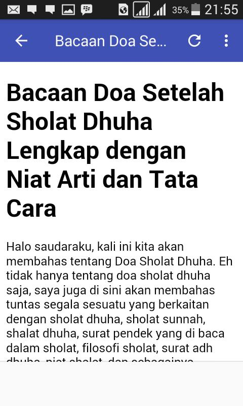 Doa Sholat Dhuha For Android Apk Download