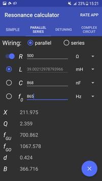 Resonance Calculator apk screenshot