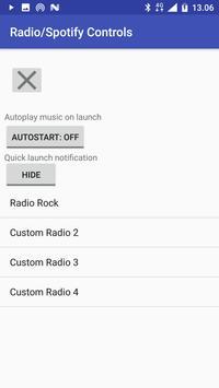 Radio spotify controls apk screenshot