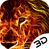 Domineering Neon Lion Hd Live 3D Wallpaper icon