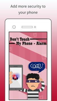 Don't Touch My Phone - Alarm poster