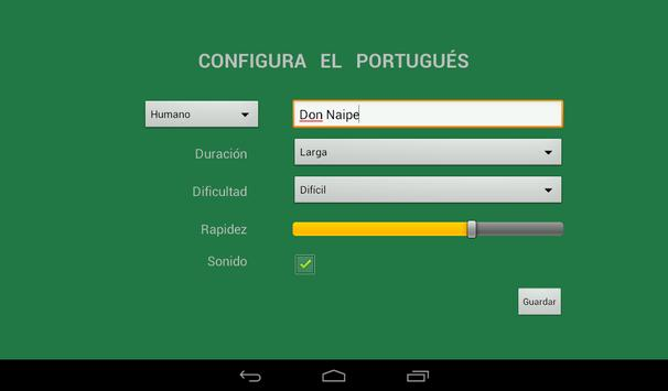 Portugués Don Naipe apk screenshot
