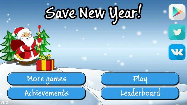 Save new year poster