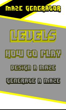Random Generated Maze Game poster
