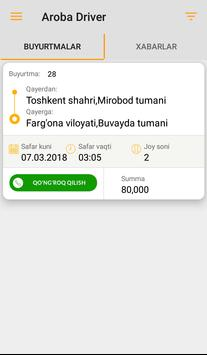 Aroba Driver - yo'lda bo'lmang ovvora apk screenshot