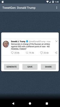 Tweet Generator: Donald Trump screenshot 2