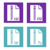 Rar Zip Tar 7Zip File Explorer, Private Vault icon