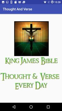 King James - Thought and Verse poster