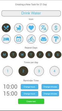 Habit in 21 days screenshot 2