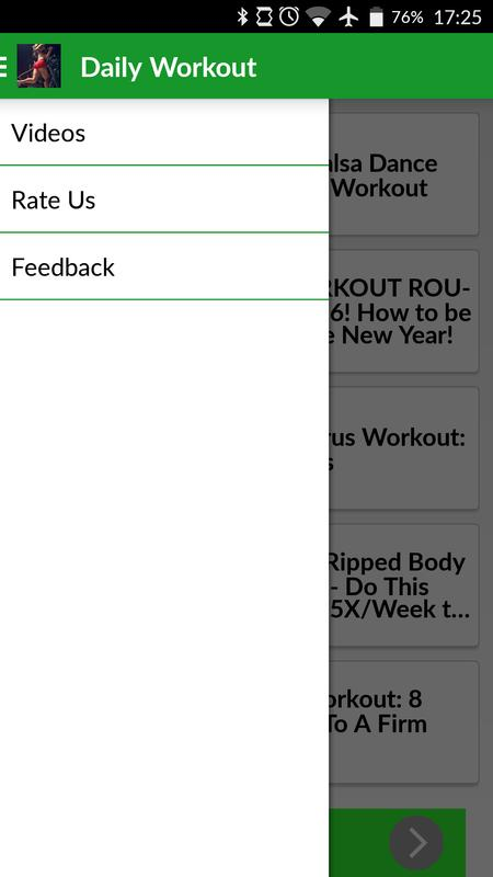 Daily Workout Home Exercise Apk Screenshot