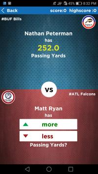 NFL Quiz : Higher or Lower Game Edition screenshot 1