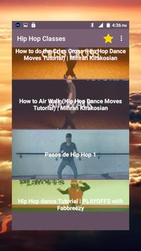Hip Hop dance classes, old school, learn to dance poster