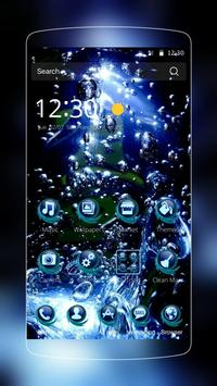 Blue Water Drop Launcher Theme screenshot 4