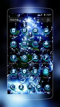 Blue Water Drop Launcher Theme screenshot 8