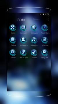 Blue Water Drop Launcher Theme screenshot 2