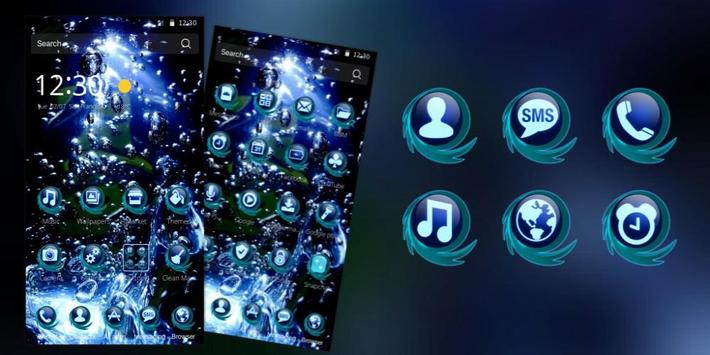 Blue Water Drop Launcher Theme screenshot 3