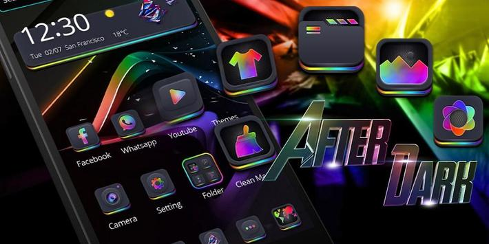 Neon Silk Theme apk screenshot