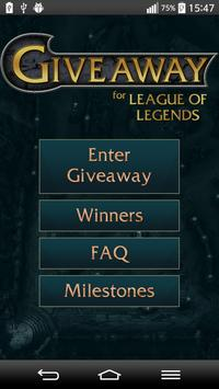 Giveaway for League of Legends poster