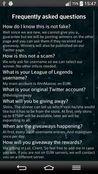 Giveaway for League of Legends screenshot 2
