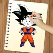 How to Draw DBZ New icon