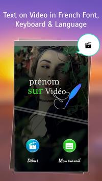 Text on Video in French Font, Keyboard & Language: poster