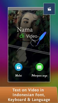 Text on Video in Indonesian, Keyboard & Language poster