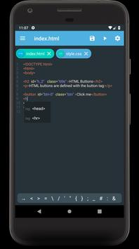 Web Editor - Text editor for HTML, CSS, JavaScript for