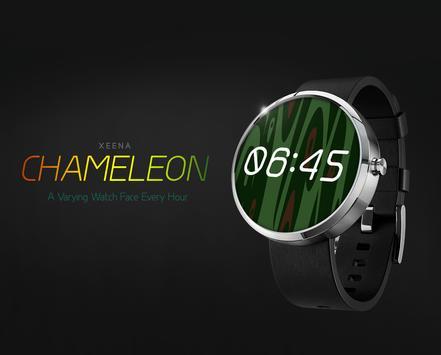 Chameleon watchface by Xeena apk screenshot