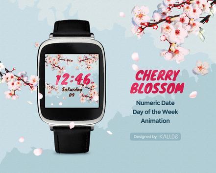 CherryBlossom Watchface by Kallos apk screenshot