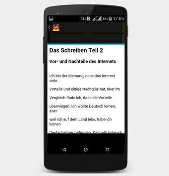 أمثلة لجتياز الامتحان الكتابي للغة الألمانية screenshot 4