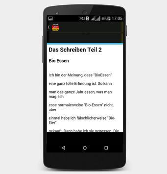 أمثلة لجتياز الامتحان الكتابي للغة الألمانية screenshot 2