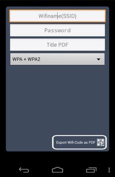 QR Code Generator WLAN poster