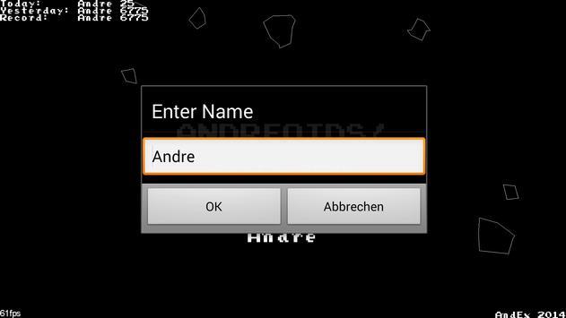 Andreoids - Asteroids defense apk screenshot