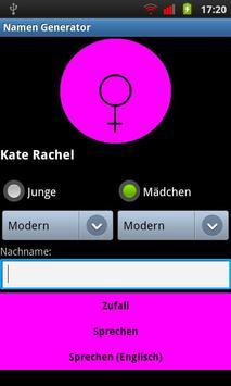 Babynamen Generator apk screenshot