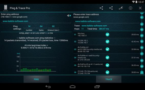 Ping and Trace Pro apk screenshot