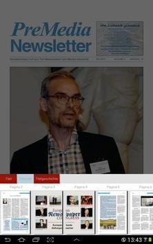 PreMedia Newsletter screenshot 1