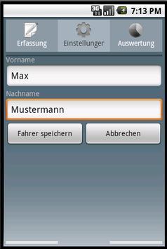 Fahrtenbuch For Android Lizenz screenshot 2