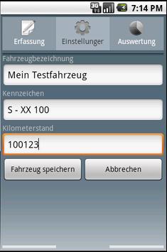 Fahrtenbuch For Android Lizenz screenshot 3